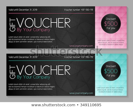 Simple modern voucher with watermark and geometric decoration Stock photo © liliwhite