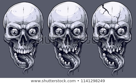 Evil Skull Stock photo © fizzgig