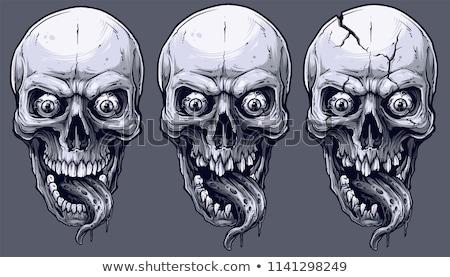 evil skull stock photo © fizzgig