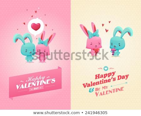 sevgililer · günü · tebrik · dizayn · kalpler · çerçeve · kalp - stok fotoğraf © beholdereye