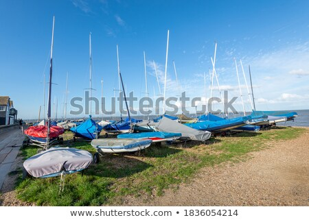Dinghy at sand beach stock photo © Steffus