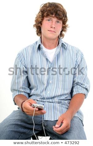 Dezesseis anos velho caucasiano menino retrato Foto stock © meinzahn