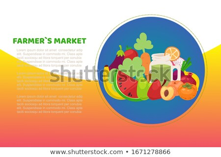 Garden Carrot Vegetable Circle Icon Stock photo © Anna_leni