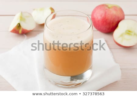 Zumo de manzana manzana frescos árboles detrás Foto stock © funix