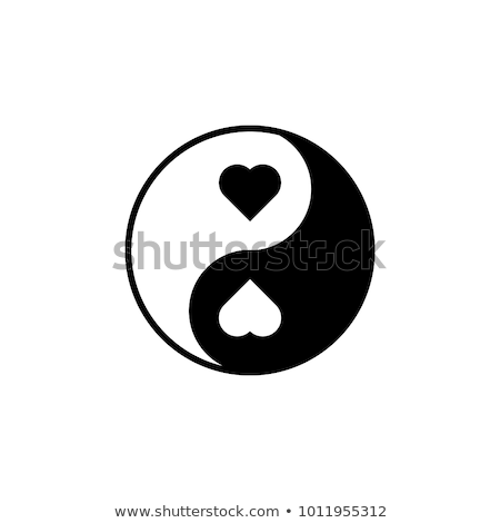 Cuori yin yang rosso simbolo amore cuore Foto d'archivio © zven0