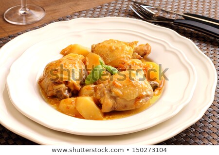 Bira tavuk güveç taze sos Stok fotoğraf © keko64