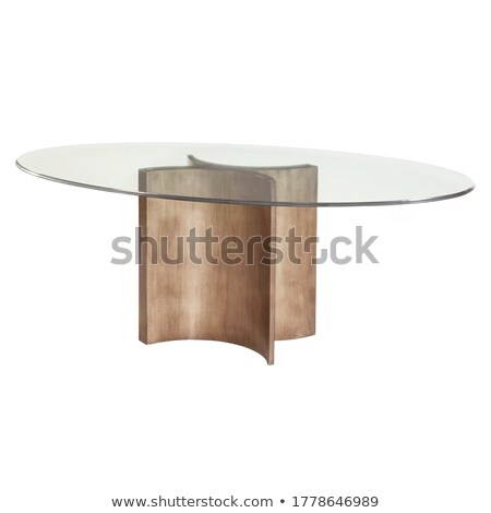 Modern glass top dining table  Stock photo © Digifoodstock