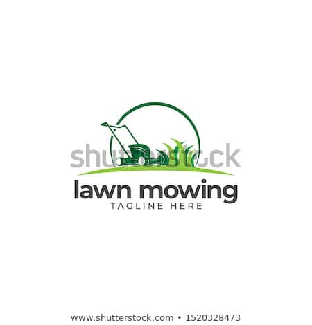 Sign on a green lawn - Lawn care Stock photo © Zerbor