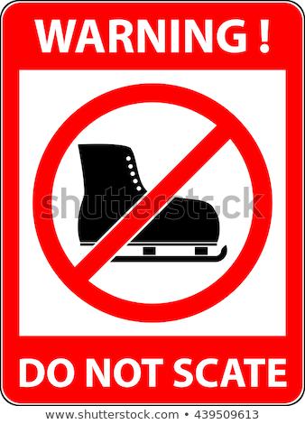ban of skating and skating shoes stock photo © ustofre9