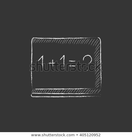 Maths example written on blackboard. Drawn in chalk icon. Stock photo © RAStudio