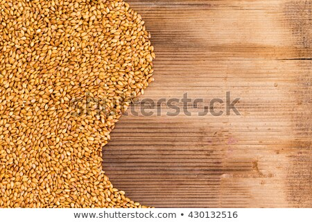 Neat pile of flax seed grains with copy space Stock photo © ozgur