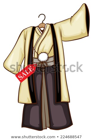 A simple drawing of a dress for sale from Asia Stock photo © bluering