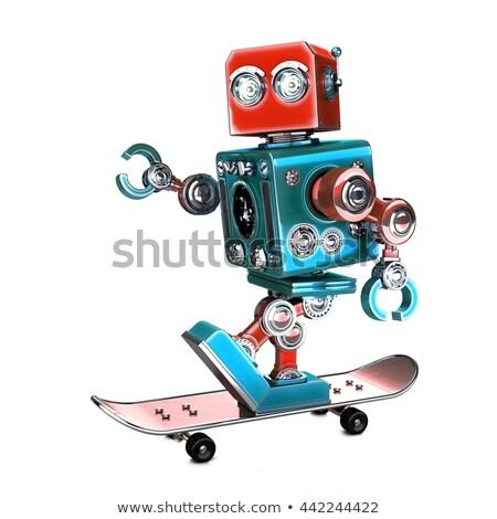3次元の男 · 極端な · スケート · 男 · スポーツ · 抽象的な - ストックフォト © kirill_m