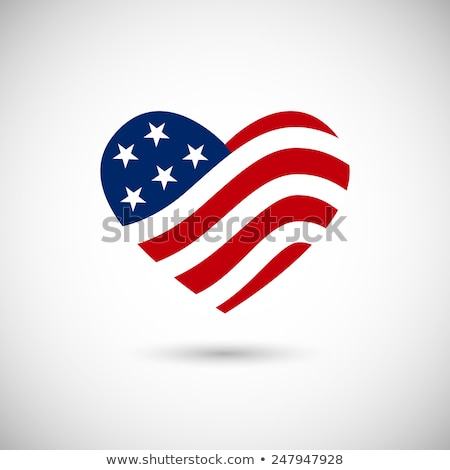 American Flag Heart and Stars America Background Stock photo © fenton