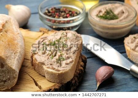 Pain sarriette pain blanc jambon crème fromages Photo stock © Digifoodstock