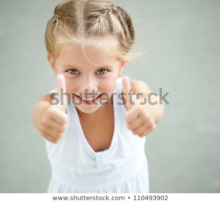 Stockfoto: Vier · meisjes · blij · gezicht · illustratie · meisje · kind