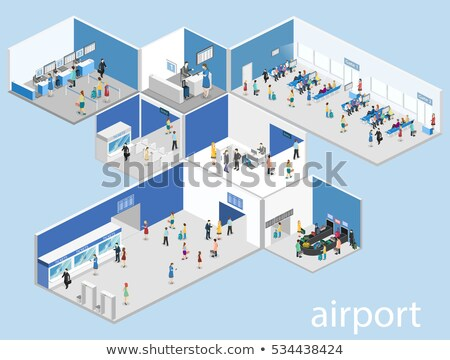 Real People waiting for the flight inside airport terminal Stock photo © Taiga