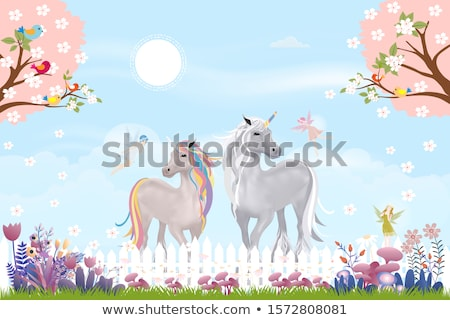 Küçük yaz kız mevsim ağaç kâğıt Stok fotoğraf © carodi