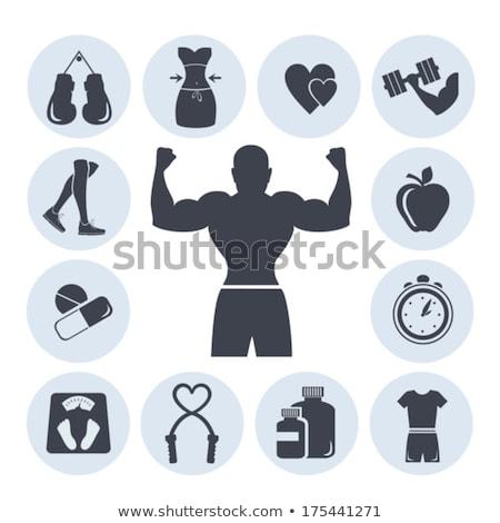 set boxing gloves vector illustration eps 10 stock photo © popaukropa