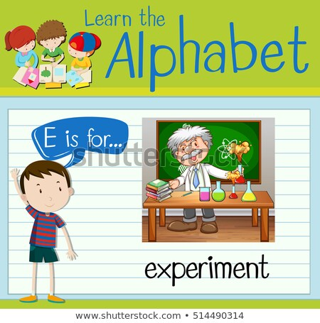 Stock photo: Flashcard letter E is for experiment