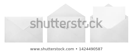 branco · abrir · envelope · vazio · projeto - foto stock © anna_leni