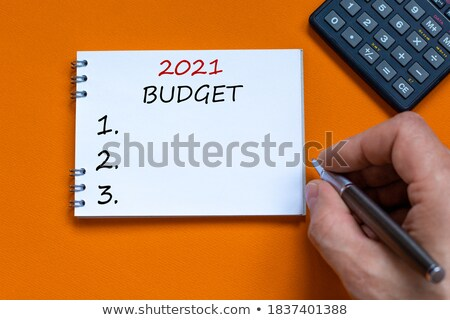 Budget message on notebook Stock photo © fuzzbones0