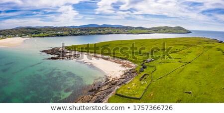 Piasku plaży Irlandia obraz piękna niebo Zdjęcia stock © magann
