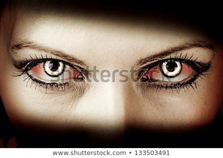 зомби девушки кровавый макияж Сток-фото © BigKnell