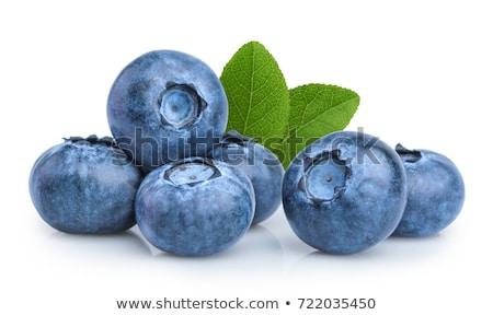 fresco · mirtilos · saco · azul · piso · cesta - foto stock © Photofreak