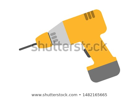 electric hand drill vector illustration stock photo © rastudio