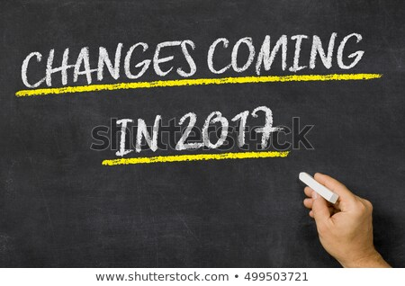 Changes Coming in 2017 written on a blackboard Stock photo © Zerbor