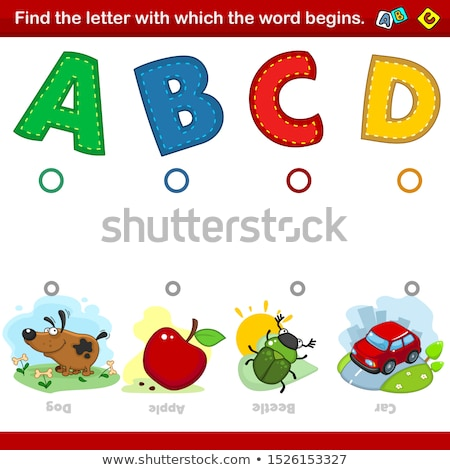 Words begin with letter D Stock photo © bluering