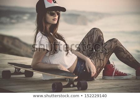 Patenci moda kız poz güzel genç Stok fotoğraf © NeonShot
