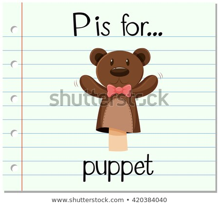 Flashcard letter P is for puppet Stock photo © bluering