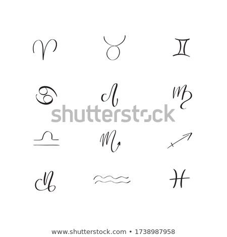 hand drawn Libra zodiac sign Stock photo © TRIKONA