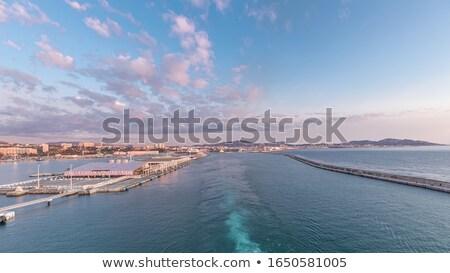 Luxus vitorlás hajó tenger naplemente Marseille Franciaország Stock fotó © CaptureLight