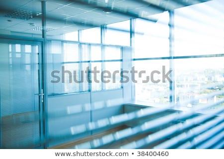 reflectie · kantoorgebouw · glas · muur · business · textuur - stockfoto © ultrapro