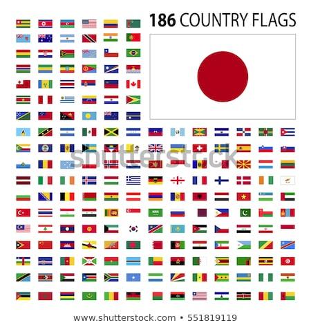 Сток-фото: африканских · флагами · вектора · Мир