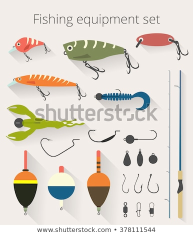 Stock photo: Fishing equipment with hooks and floats