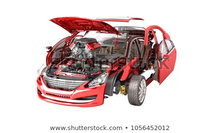 3D rendering of mechanical on white background Stock photo © tracer
