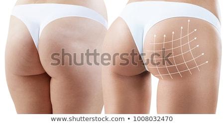 Femminile ass bianco isolato ragazza sexy Foto d'archivio © Nobilior