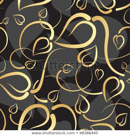 sem · costura · corações · padrão · coração · dia · dos · namorados · cartão - foto stock © beholdereye