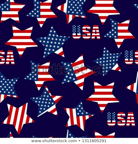 Patriotyczny USA amerykańską flagę symbolika kolory Zdjęcia stock © day908