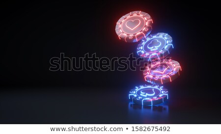 Kaszinó zsetonok ásó szív gyémánt klub 3D Stock fotó © djmilic