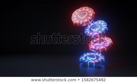 Fichas pá coração diamante clube 3D Foto stock © djmilic