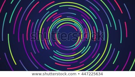 Resumen neón colorido círculos stock vector Foto stock © punsayaporn