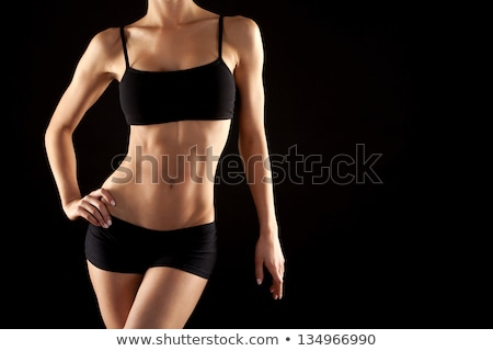 fitness woman torso on white background isolated stock photo © nobilior