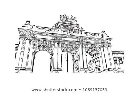 Utcakép óváros Brüsszel város lakosság 18 Stock fotó © artjazz
