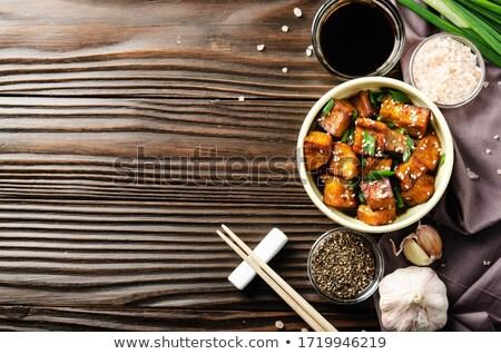 Tofu sos sojowy Zdjęcia stock © M-studio