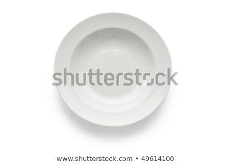 profundo · branco · prato · limpar · prato · vazio - foto stock © digifoodstock